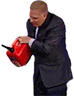 Glenn Beck with Gas Can